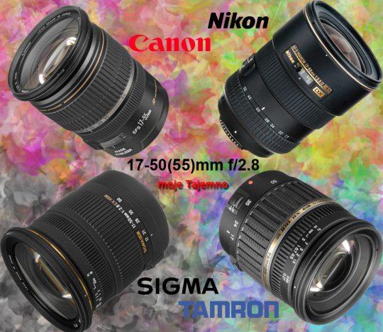 značení objektivů Canon, Nikon, Sigma, Tamron