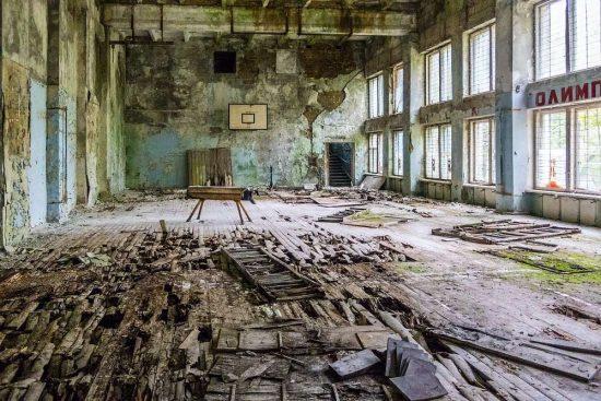 Opuštěná tělocvična Černobyl | moje Tajemno