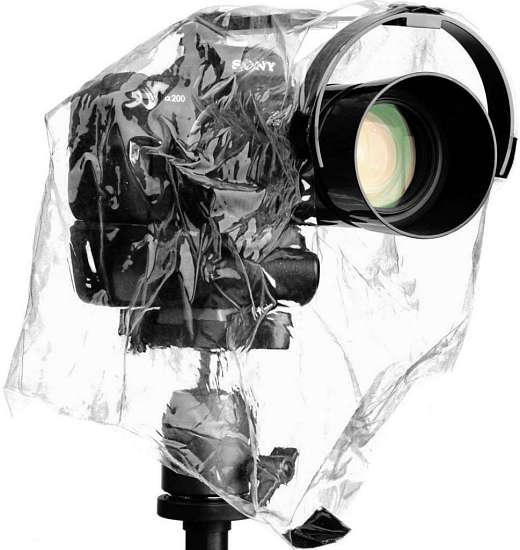 Pláštěnka na fotoaparát a objektiv pro fotografování v dešti | moje Tajemno