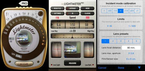 myLightMeter PRO | aplikace pro fotografy | moje Tajemno