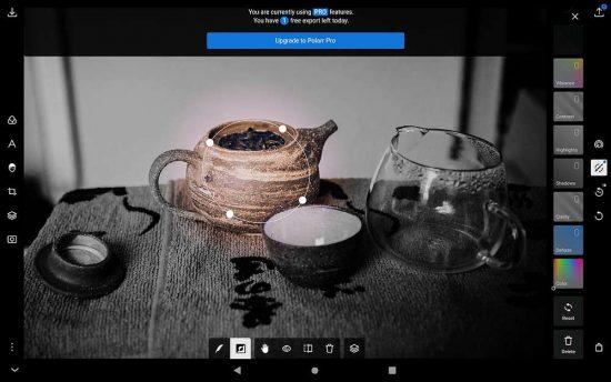 Polarr | aplikace pro fotografy | moje Tajemno