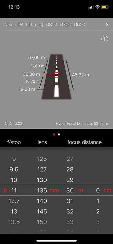 Simple DoF Calculator | aplikace pro fotografy | moje Tajemno