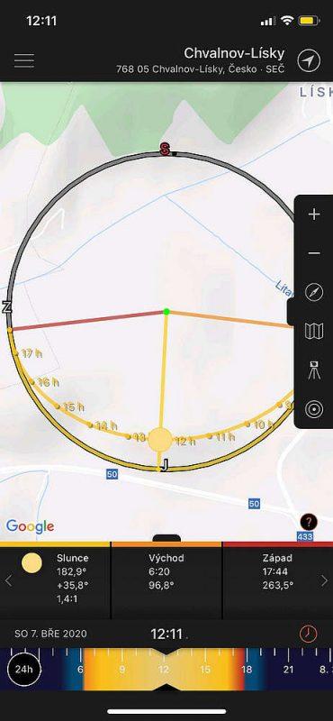 Sun Surveyor | aplikace pro fotografy | moje Tajemno