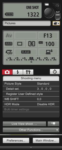 Remote Shooting v EOS Utility v3 | moje Tajemno