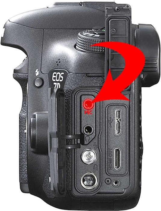 Mikrofonový konektor ve fotoaparátu Canon pro záznam zvuku ve videu | moje Tajemno