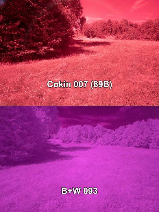 IR filtr Cokin 007 a IR filtr B+W 093 | moje Tajemno