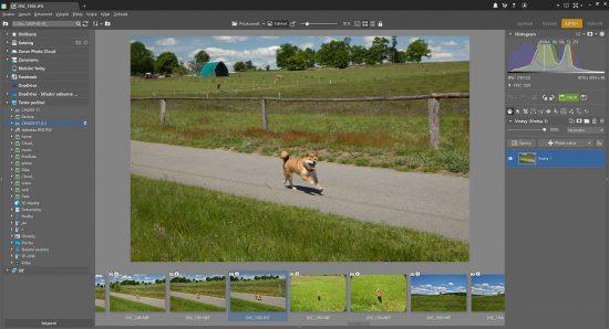 Rozhraní programu Zoner Photo Studio při úpravě fotografií | moje Tajemno