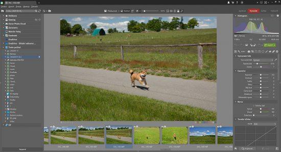 Rozhraní programu Zoner Photo Studio při vyvolávání RAW souborů | moje Tajemno